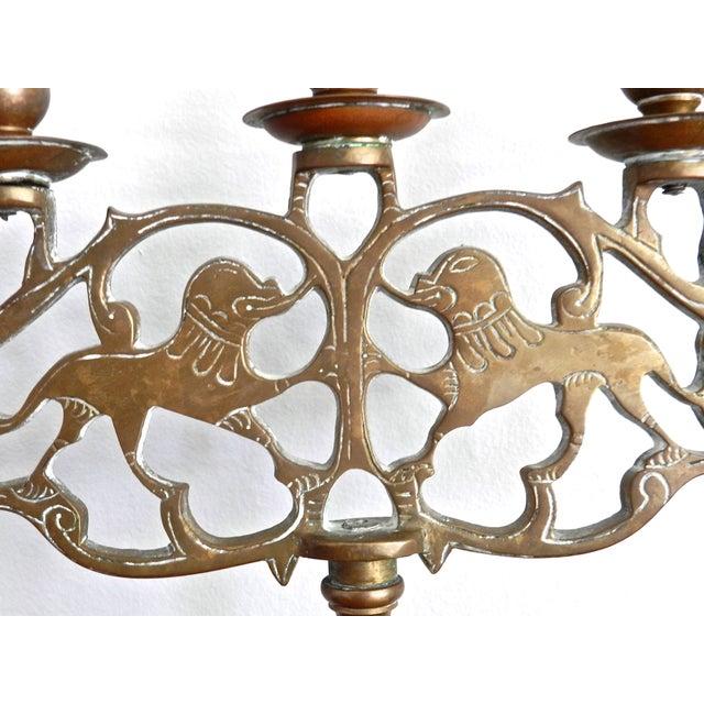 Vintage Brass Five Arm Candelabra - Image 7 of 7