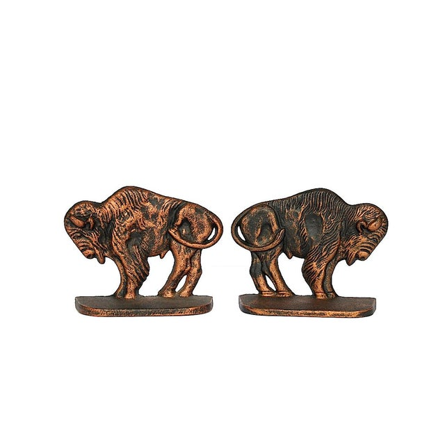 Vintage Bison Buffalo Bookends - a Pair For Sale - Image 11 of 11