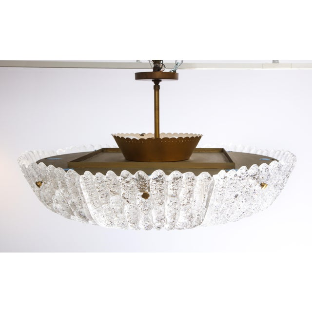 1960s Massive Carl Fagerlund Pendant Fixture for Orrefors For Sale - Image 5 of 13