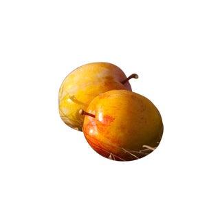 "Gaétan Caron ""Flavor Grenade Duo"" (Pluots), Framed Plum-Apricot Still Life, Color Photograph 2016 For Sale"