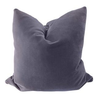 "Lavender Mohair Velvet 22"" Pillows-A Pair For Sale"