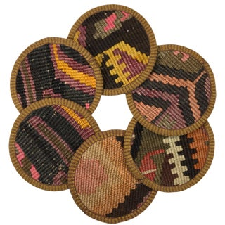 Kilim Coasters Set of 6 | Nuruosmaniye For Sale