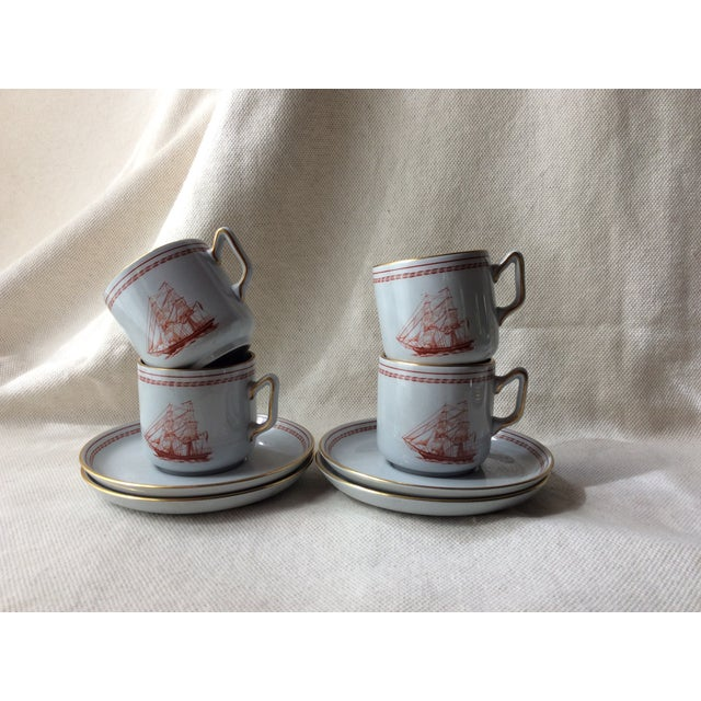 Spode TradeWinds Pattern Coffee Cups, Saucers and Plates - Set of 12 For Sale - Image 10 of 11