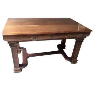 19th Century Chippendale Solid Mahogany Writing Desk For Sale