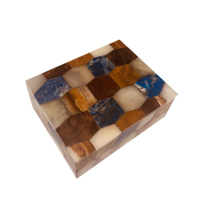 Antique Russian Hexagonal Precious Stones Box For Sale In Tampa - Image 6 of 8