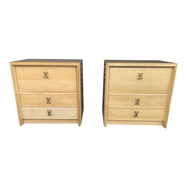 Mid Century Paul Frankl X Pull Nightstands- a Pair For Sale
