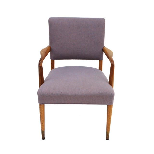 Stow & Davis Mid-Century Sculpted Walnut Frame Armchair by Stow & Davis For Sale - Image 4 of 10