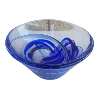1970s Kosta Boda Cobalt Blue Bowl For Sale