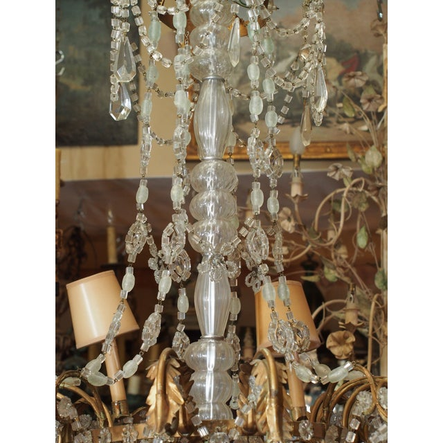 19th Century French Crystal Chandelier For Sale - Image 4 of 11