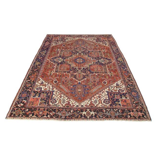 It is a color full Antique Persian Karajeh. Beautiful design!