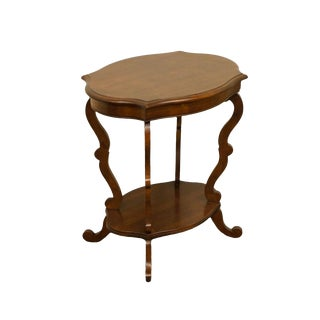 Hickory Chair Co. Solid Cherry Cappuccino Finish Entry / Accent Table For Sale