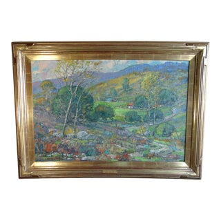 """""""Morn in the Valley"""" Contemporary Landscape Oil Painting by Karl Dempwolf, Framed For Sale"""