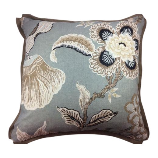 "Schumacher ""Hot House Flowers"" in Mineral-Pillow Covers - a Pair For Sale"
