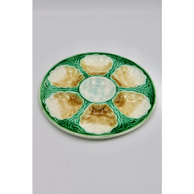 Art Deco French Ceramic Oyster Plate For Sale - Image 4 of 10