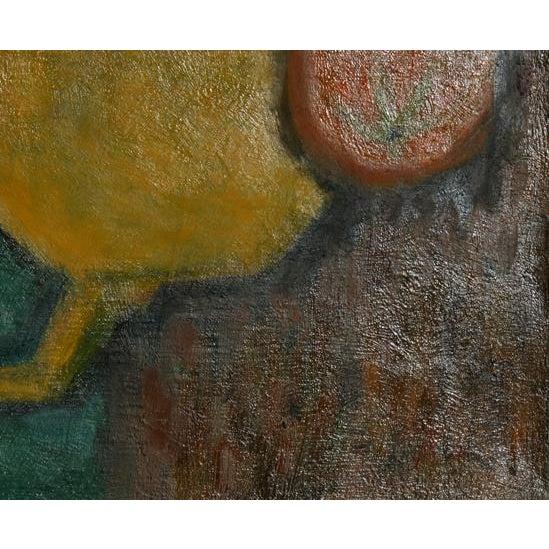 Artist: Laurent Marcel Salinas, Egyptian/French (1913 - 2010) Title: Theiere Jaune, Fruits et Verre (337) Year: 1962...