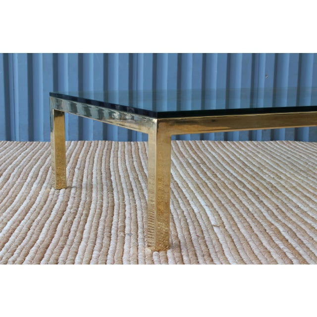 Brass Plated Coffee Table by James Howell, 1970s, USA For Sale - Image 10 of 11