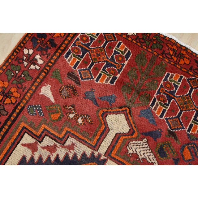 Textile Vintage Persian Luri Rug- 4′1″ × 7′5″ For Sale - Image 7 of 13