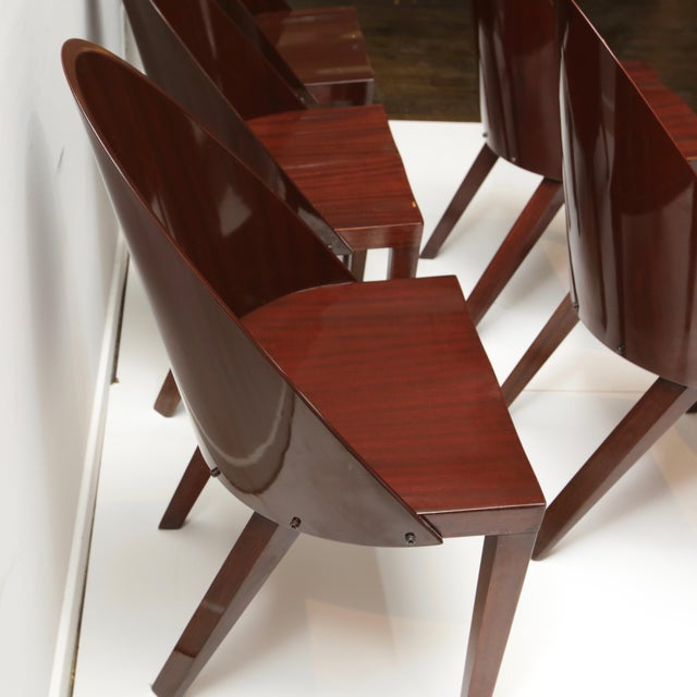 Philippe Starck Royalton Mahogany Dining Chairs - Set of 6 For Sale In New York - Image 6 of 8