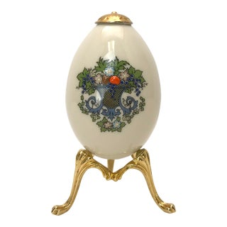 """Vintage Lenox Egg with Stand """"Autumn"""" For Sale"""