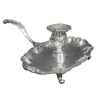 Grande Imperiale Buccellati Sterling Chamber Stick Candleholder, Rare Hollowware For Sale
