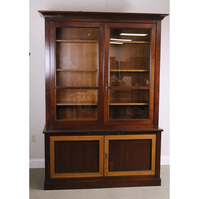 French Grange French Cherry Louis Philippe Style Bookcase Cabinet For Sale - Image 3 of 13