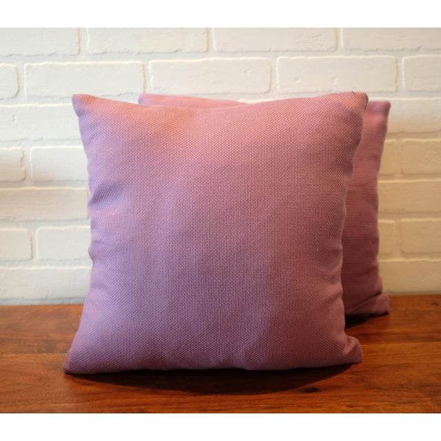 Boho Chic Lavender Tempotest Italian Woven Fabric Pillow Covers - Set of 3 For Sale - Image 3 of 6