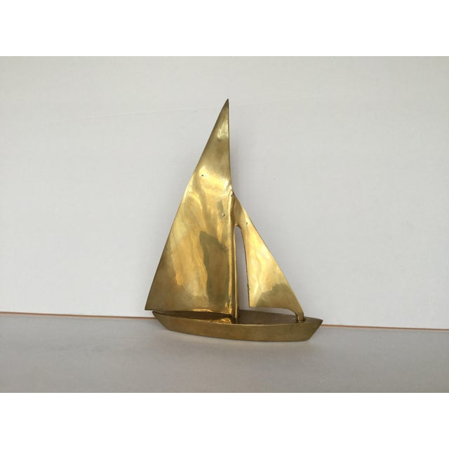 1970s Traditional Brass Sailboat Figurine For Sale - Image 13 of 13