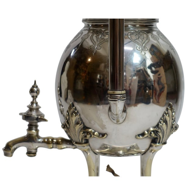 Silver Plated Aesthetic Movement Hot Water Urn Samovar 19th Century For Sale - Image 4 of 9