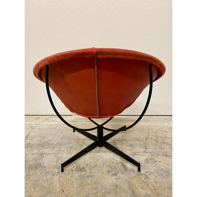 Late 20th Century Mid Century Modern William Katavalos Barrel Chair For Sale - Image 5 of 13