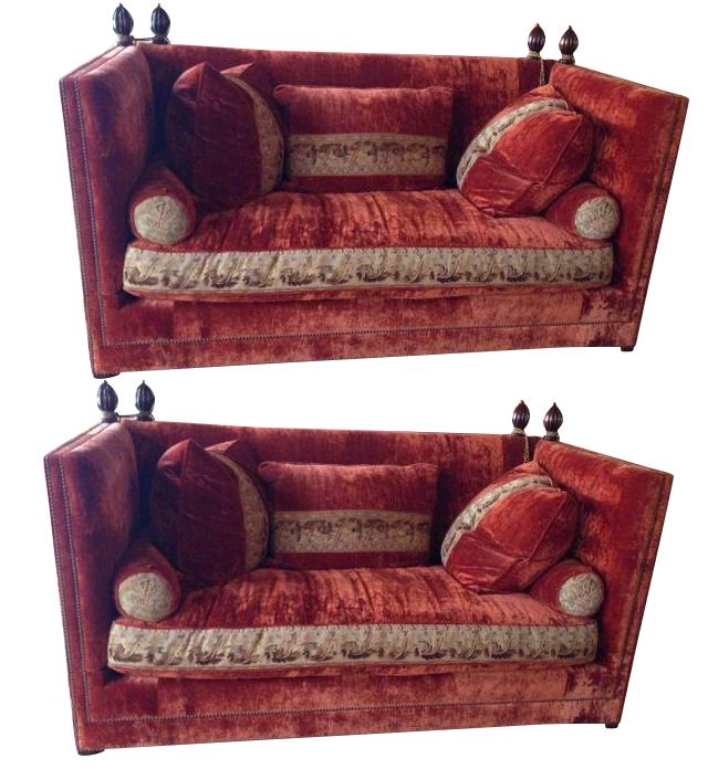 Custom Knole Sofas   A Pair