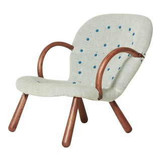 1940s Philip Arctander Clam Chair With Complimentary Re-Upholstery For Sale