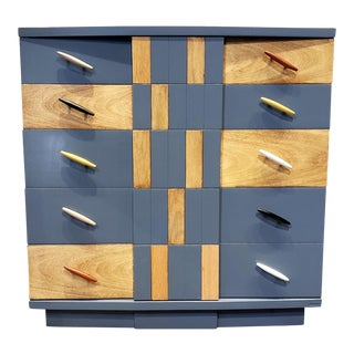 Postmodern Memphis Group Style Kent Coffey Chest For Sale