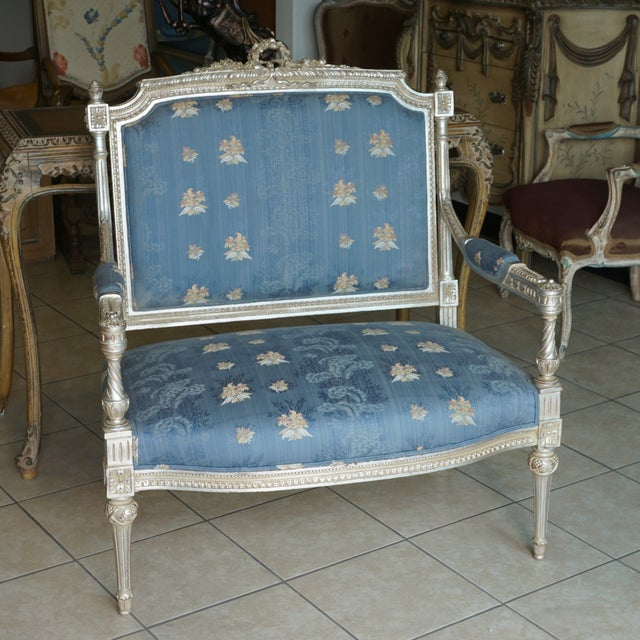 Hand Carved European Settee - Image 2 of 8