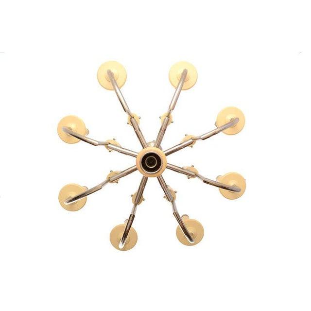 Bakelite Mid Century Modern Bakelite Chrome-Plated Chandelier For Sale - Image 7 of 10