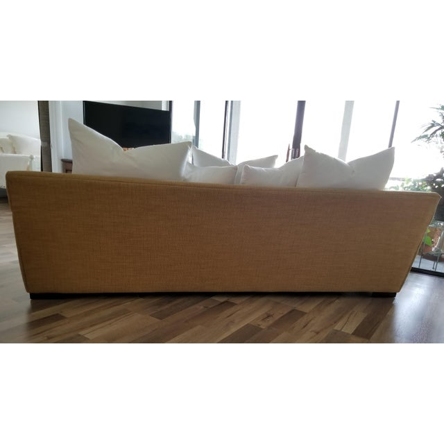 2010s Resort Style Modern Oversized White & Sand Sofa and Chair - Set of 2 For Sale - Image 5 of 13