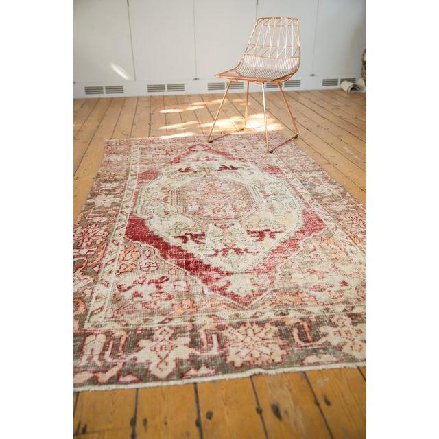 "Textile Vintage Distressed Oushak Rug - 4'8"" X 7'8"" For Sale - Image 7 of 10"