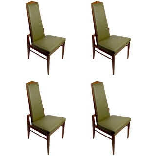 Set of Four Foster McDavid High Back Dining Chairs For Sale