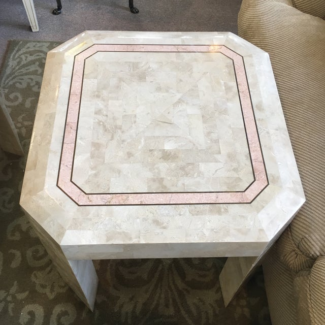 Stone Tessellated Fossil Coral Cocktail & End Tables - Set of 3 For Sale - Image 7 of 10