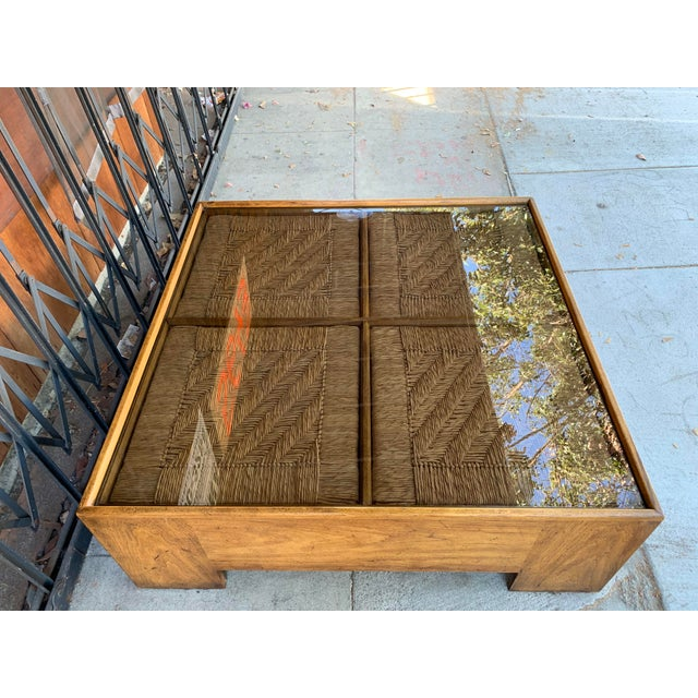 1960s Mid Century Modern Drexel Heritage Wood Briar Coffee Table For Sale In Los Angeles - Image 6 of 13