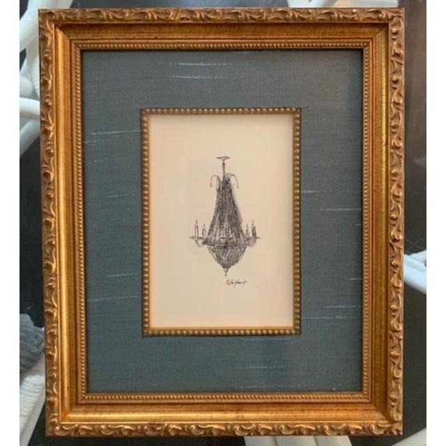 Elle Yount French Chandelier #2 Original Drawing For Sale In Nashville - Image 6 of 6