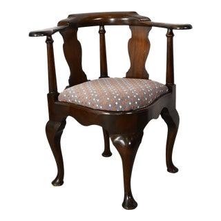 Antique English George III Mahogany Corner Chair For Sale