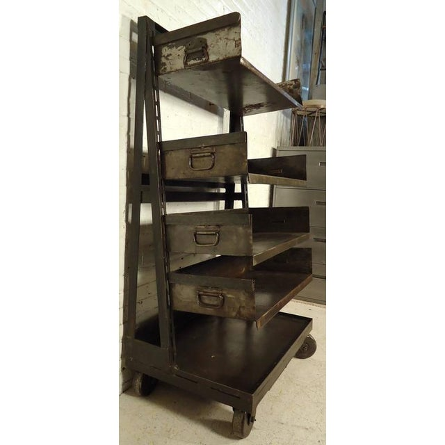 Industrial Industrial Five Level Shelving Unit For Sale - Image 3 of 8
