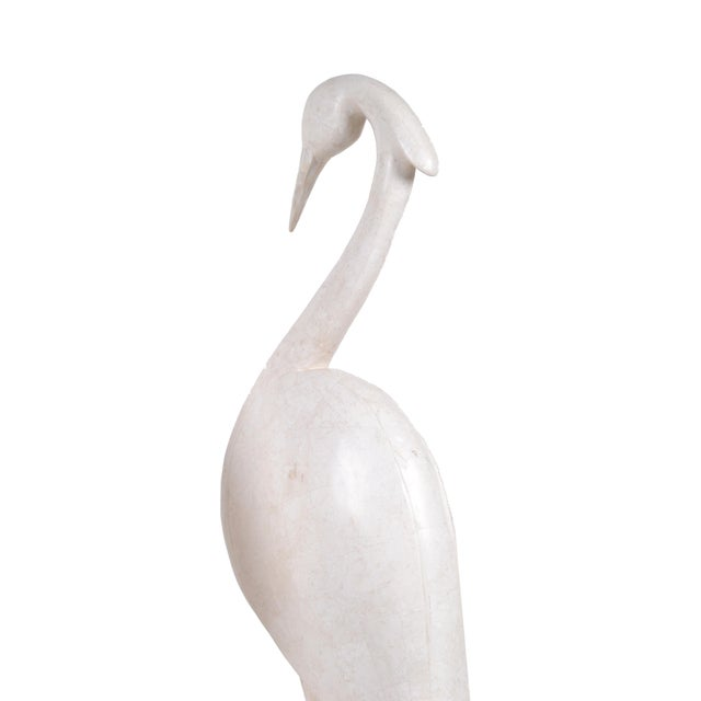 Two Marquis Collection of Beverly Hills Birds White Ivory Stone and Fossil Stone For Sale - Image 4 of 10