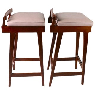 Pair of Stools by Erik Buch for Dyrlund For Sale