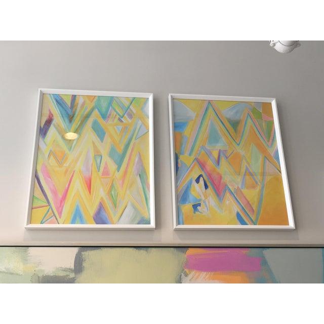 """Framed """"Peaks 4"""" Print For Sale - Image 4 of 4"""