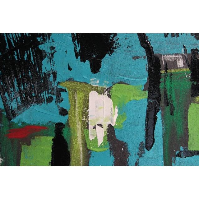 "2017 ""BU 4"" Abstract Acrylic Painting - Image 4 of 10"
