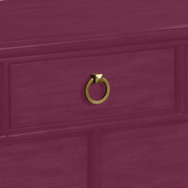 This is a made to order item with a 6-8 week leadtime. The color is Benjamin Moore Grape Juice.A rectangular molded top is...