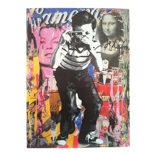 "Mr. Brainwash "" Smile "" Authentic Lithograph Print Pop Art Poster For Sale"