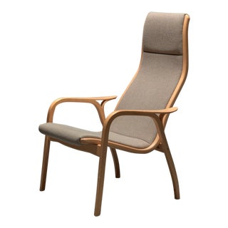 Yngve Ekström for Swedese Beech Lamino Lounge Chair For Sale