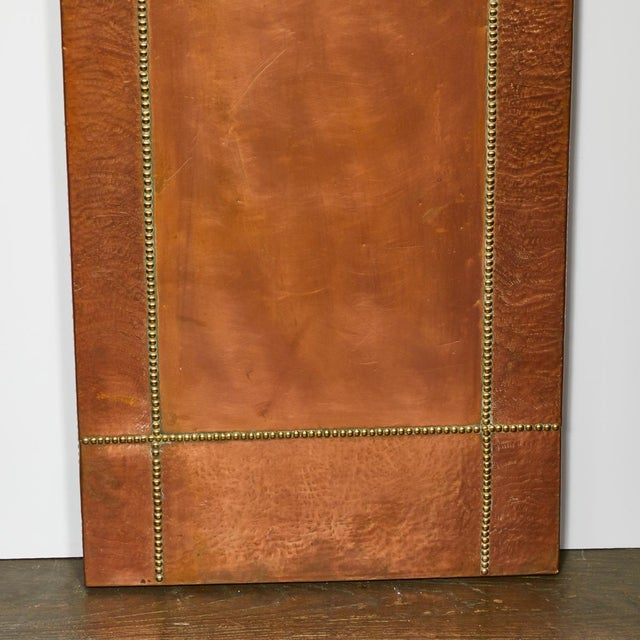 Art Deco Mid Century French Copper and Brass Panel For Sale - Image 3 of 5